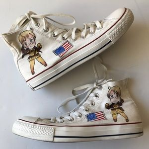 Hetalia Axis Powers Custom Painted Converse